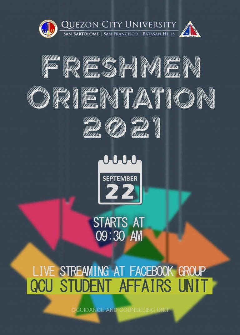 FRESHMEN ORIENTATION 2021